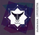 taurus horoscope sign  creative ...   Shutterstock .eps vector #1995520706