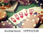 View Of A Gaming Table With...