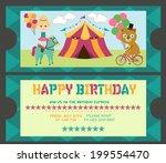 happy birthday ticket invitation | Shutterstock .eps vector #199554470