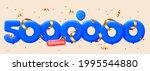 5000000 followers thank you 3d...   Shutterstock .eps vector #1995544880