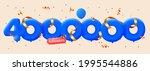4000000 followers thank you 3d... | Shutterstock .eps vector #1995544886