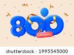 800 followers thank you 3d blue ... | Shutterstock .eps vector #1995545000