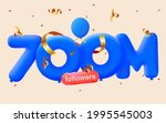 700m followers thank you 3d... | Shutterstock .eps vector #1995545003