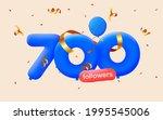 700 followers thank you 3d blue ... | Shutterstock .eps vector #1995545006