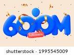 600m followers thank you 3d... | Shutterstock .eps vector #1995545009