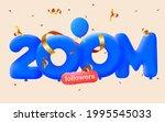 200m followers thank you 3d... | Shutterstock .eps vector #1995545033