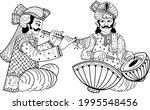 indian wedding symbol music... | Shutterstock .eps vector #1995548456