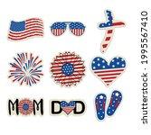 patriotic stickers set.... | Shutterstock .eps vector #1995567410