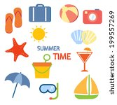 summer activities vector... | Shutterstock .eps vector #199557269