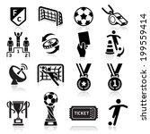 soccer icons. vector... | Shutterstock .eps vector #199559414
