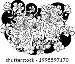 gemini of astrology design...   Shutterstock .eps vector #1995597170
