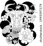 taurus vector of astrology...   Shutterstock .eps vector #1995597179