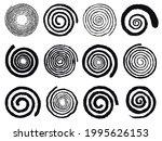 grunge spirals. swirling... | Shutterstock .eps vector #1995626153