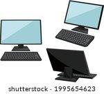 desktop pc icon illustration...   Shutterstock .eps vector #1995654623