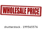 stamp with text wholesale price ... | Shutterstock .eps vector #199565576