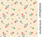 cute floral pattern in the... | Shutterstock .eps vector #1995685043