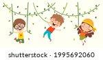 cartoon drawing of happy... | Shutterstock .eps vector #1995692060