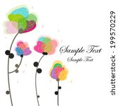 floral greeting card | Shutterstock .eps vector #199570229