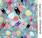autumn seamless bright pattern... | Shutterstock .eps vector #199571993