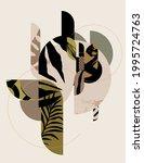 hand drawn art floral design.... | Shutterstock .eps vector #1995724763