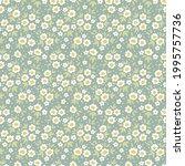 floral pattern. pretty flowers... | Shutterstock .eps vector #1995757736
