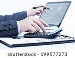 businessman analyzing... | Shutterstock . vector #199577273