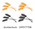 agricultural icons on white... | Shutterstock .eps vector #199577708