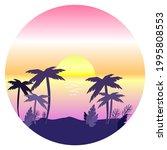 vector retro wave illustration  ... | Shutterstock .eps vector #1995808553