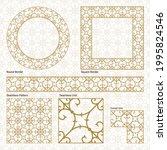 vector  gold  floral  design...   Shutterstock .eps vector #1995824546