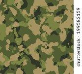green woodland seamless camo...   Shutterstock . vector #199583159