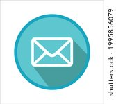 email icon. blue website symbol ...
