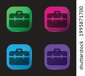briefcase four color glass...