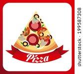 food design over red background ... | Shutterstock .eps vector #199587308