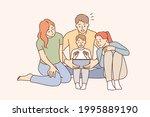 entertaining using mobile app...   Shutterstock .eps vector #1995889190
