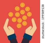 money design over red... | Shutterstock .eps vector #199589138