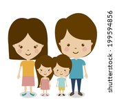 family design over white... | Shutterstock .eps vector #199594856