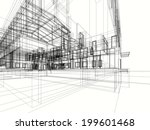 building sketch blueprint | Shutterstock . vector #199601468