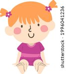 illustration of a kid girl in a ...   Shutterstock .eps vector #1996041236