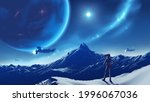 science fiction vector...   Shutterstock .eps vector #1996067036