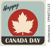 happy canada day. 1st july.... | Shutterstock .eps vector #1996071113
