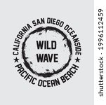 california beach wild wave... | Shutterstock .eps vector #1996112459