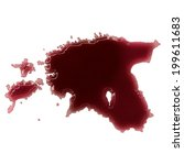 pool of blood  or wine  that... | Shutterstock . vector #199611683