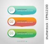 modern vector steps  progress... | Shutterstock .eps vector #199612100