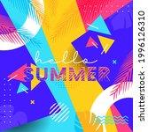 creative hello summer... | Shutterstock .eps vector #1996126310