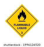 flammable liquid sign on white... | Shutterstock .eps vector #1996126520