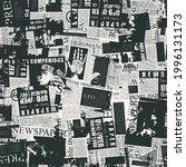 black and white seamless... | Shutterstock .eps vector #1996131173