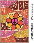 70s groovy retro inspirational... | Shutterstock .eps vector #1996132619