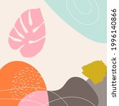 abstract shapes  doodles and... | Shutterstock .eps vector #1996140866