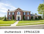 Luxurious Red Brick House Wit...