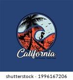 california surf paradise...   Shutterstock .eps vector #1996167206
